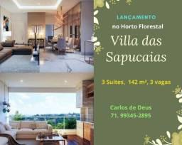Lançamento  Villa das Sapucaias, 3 suítes, 142 m², 3 vagas, no Horto Florestal