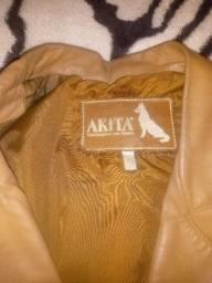 Casaco couro legítimo estilo blazer super macio