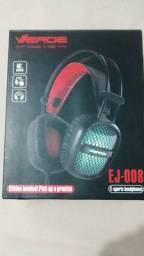 Fone Gamer com leds EJ-008 marca Verde