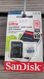 Cartão de Memoria Classe 10 MicroSD (Temos de 16gb, 32gb ou 64gb)