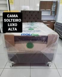 CAMA BOX SOLTEIRO LUXO alta 549,00! ENTREGA IMEDIATA!