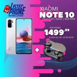 Xiaomi Note 10 + Fone Bluetooth