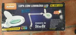 Solver - Lupa Luminária Bancada Led Bivolt HL-500 5x ou 8x
