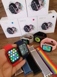 Smartwatch IWO 13 Lite HW12 40mm, Foto e Senha na Tela, Troca Pulseira, Faz ligações