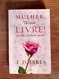 Livro Mulher, Tu Estás Livre! em ótimo estado