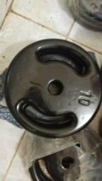 Anilha de ferro pintado  e Emborrachada (promoção)