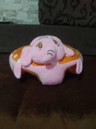 Assento Bebê Cadeirinha Sofá Colorido elefante semi nova