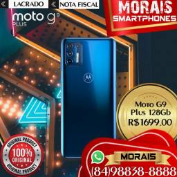 (QUALIDADE E CONFIANÇA ESTÁ AQUI) Moto G9 Plus 128Gb Azul (LACRADO NF ENTREGA IMEDIATA)