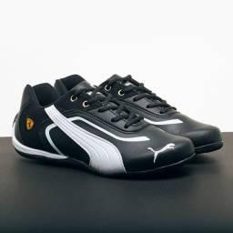 Sapato puma ferrari preto e branco novo