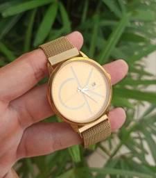 Relógios Calvin Klein e Dior material inoxidável não perde a cor
