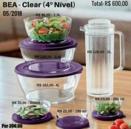 Bea clear tupperware