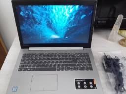 Notebook Lenovo Ideapad 320 i3, 4GB de memória, 1TR de armazenamento, Full HD, abert. 180°