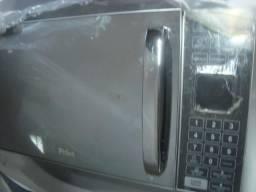 Microondas okm inox inox espelhado na cx de mostruario n, e garantia cr 259,