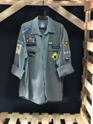 Camisa Manga Longa Cinza clara Old Navy - Tamanho - G