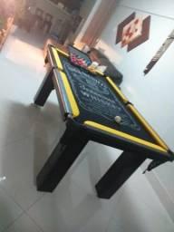Mesa Slim de Bilhar   Mesa Preta   Tecido Preto   Jack Daniels   Modelo: CSLD5115