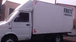 Frete, mudança, caminhão baú
