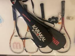 Conjunto Raquete squash