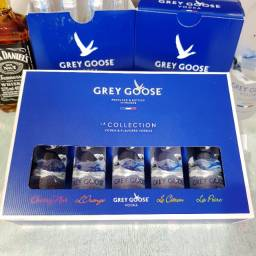 Kit Coleção Miniatura Vodka Grey Goose Francesa - 50ml - Original e Lacrada