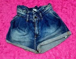Short Jeans Clochard Feminino 36