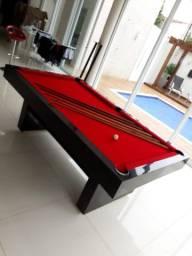 Mesa de Bilhar Sedução Preta Bl Tecido Vermelho Modelo LVC4130