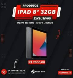 apple ipad 8 32gb lacrado todas cores. 1 ano de garantia