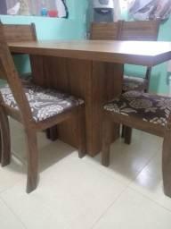 Troco mesa 6 cadeira por canto alemão