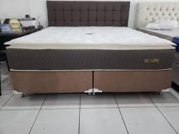 ::Conjunto cama Box Colchao Ecolife Super King (193x203) Luxo e Qualidade;;