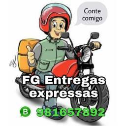 Serviços de entregas em motos.