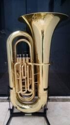 Tuba 4/4 Weril J981 Laqueada Zerada / Troco - Parcelo 12x cartão
