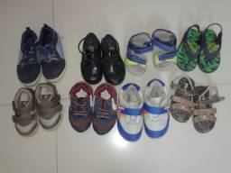 Lote de sapatos e tênis menino