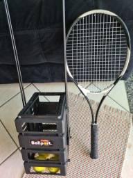 Raquete de Tênis e Pegador/Suporte de bolas