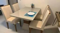 (3789) Mesa 4 Cadeiras Ágata!! whatsapp 99613=3789