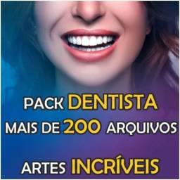 Pack Dentista 200 Artes Editável Em .Psd R$19,90