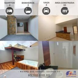 Casa 2 Quartos sendo 1 Suíte, R$200.000,00, Moinho dos Ventos, Goiânia - GO