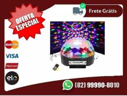 Faça.sua.compra.Te.entregamos-Globo Bola Maluca Led Magic Cristal Rgb Festas Mp3 Controle