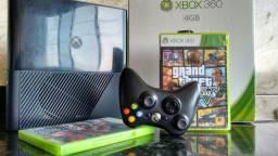 Xbox 360 Super Slim NOVO pouco uso PERFEITO ESTADO com GTA5 e PES