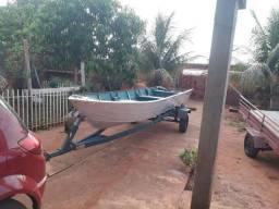 Vendo barco borda alta com carretinha