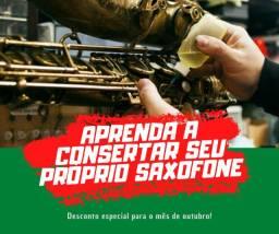 Manutenção em sax, flauta e clarinete (curso de luthieria)