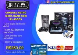 Mega game com 123 jogos e 2 controles