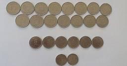 Lote 23 moedas antigas de Cruzado +Cruzados Novos