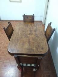 Mesa de madeira maciça parcelo no cartão