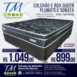 Oferta!Conj. Plumatex Sonata Black Queen Size, 26CM Molas Verticoil! 10x Sem Juros