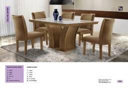 Mesa leblon com 6 cadeiras *