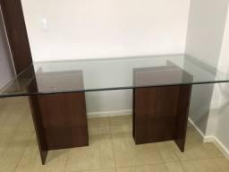 Mesa com vidro Bisotê 1.70x0.90