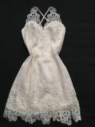Vestido Branco- Usado apenas uma vez