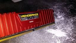 Memoria Ram Corsair Vengeance 1x8gb 2666mhz DDR4 Vermelha