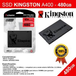 SSD Kingston 480GB - A400 - Novo - Pronta Entrega