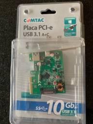 Placa PCI-e USB 3.1 - 10Gb