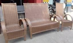 Jogo de Cadeiras Para Jardim Piscina Area Gourmet Sacada Varanda - na Fibra