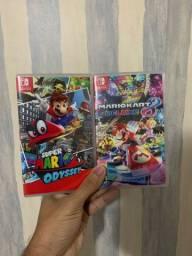 Mário kart e Mário odyssey para Nintendo Switch